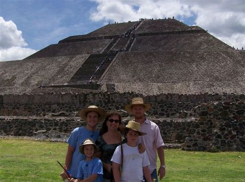 Family pic at pyramids